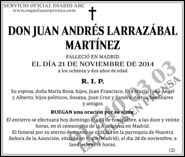 Juan Andrés Larrazábal Martínez